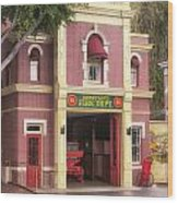 Fire Station Main Street Disneyland 02 Wood Print