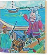 Fire The Cannon Wood Print by Brenda Ruark