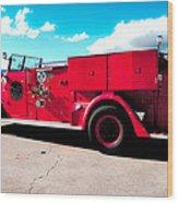 Fire Truck  Wood Print by Lisa Cortez