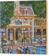 Fire Truck Main Street Disneyland Photo Art 02 Wood Print