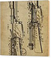 Firearm - Patented On 1907 Wood Print