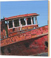 Fireboat Wood Print