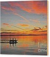 Firecracker Sunset Wood Print