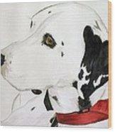 Firedog Wood Print