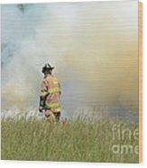 Firefighter 55 Wood Print