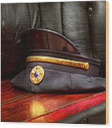 Firefighter - Hat - The Ex Chiefs Hat Wood Print by Mike Savad