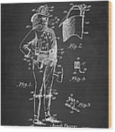Firefighter Uniform Patent 1905 Wood Print