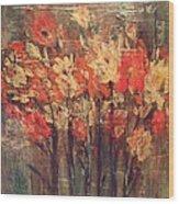 Fireflowers Wood Print