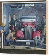 Firehall Mural Sultan Washington 1 Wood Print