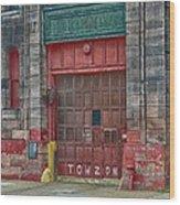 Firehouse Door Wood Print