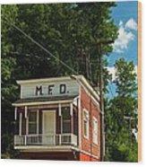 Firehouse Meshoppen Pennsylvania Wood Print
