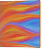 Firelight Wood Print by Daina White