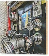 Fireman - Control Panel Wood Print