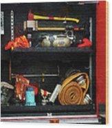 Fireman - Fire Fighting Supplies Wood Print