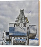 Fireman - Fire Ladder Wood Print