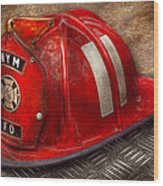 Fireman - Hat - A Childhood Dream Wood Print