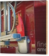 Fireman Hook And Ladder Wood Print