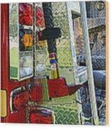 Fireman Keep Back 300 Feet Wood Print