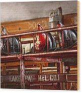 Fireman - Ladder Company 1 Wood Print by Mike Savad