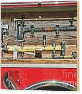 Fireman - Life Saving Tools Wood Print