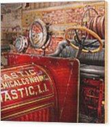 Fireman - Mastic Chemical Co Wood Print by Mike Savad
