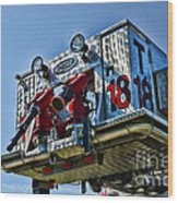 Fireman - The Fireman's Ladder Wood Print