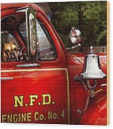 Fireman - This Is My Truck Wood Print