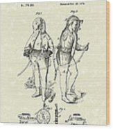 Fireman's Suits 1876 Patent Art Wood Print
