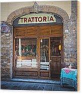 Firenze Trattoria Wood Print