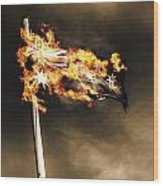 Fires Of Australian Oppression Wood Print