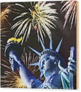 Fires Of Liberty Wood Print