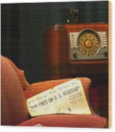 Fireside Chats With Fdr 01 Wood Print