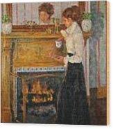 Fireside Wood Print