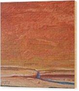 Fire Sky Wood Print by Dawn Vagts
