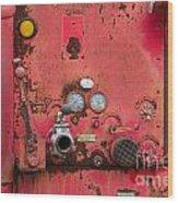 Firetruck Red Wood Print