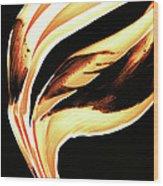 Firewater 2 - Buy Orange Fire Art Prints Wood Print
