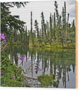 Fireweed On The Clearwater Wood Print
