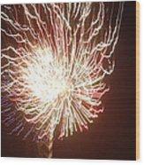 Firework Burst Wood Print by April Lerro