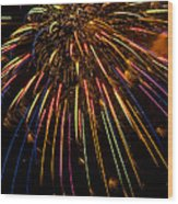 Firework Indian Headdress Wood Print