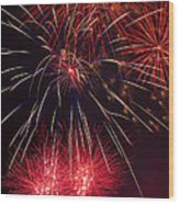 Firework Majesty  Wood Print