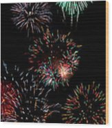 Colorful Explosions No2 Wood Print