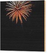 Fireworks - White And Orange Wood Print