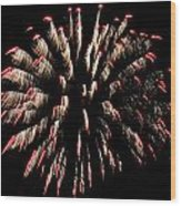 Fireworks 1 Wood Print by Jeffrey J Nagy