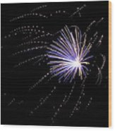 Fireworks 1 Wood Print by Sandy Swanson