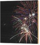Fireworks 10 Wood Print