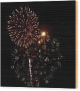 Fireworks 12 Wood Print by Mark Malitz