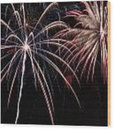 Fireworks 2 Wood Print by Andrew Nourse