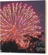 Fireworks 2014  1 Wood Print