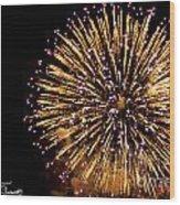 Fireworks 2014  10 Wood Print
