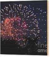 Fireworks 2014  3 Wood Print
